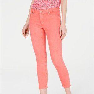 Michael Kors Womens Izzy Skinny Ankle Jeans Orange